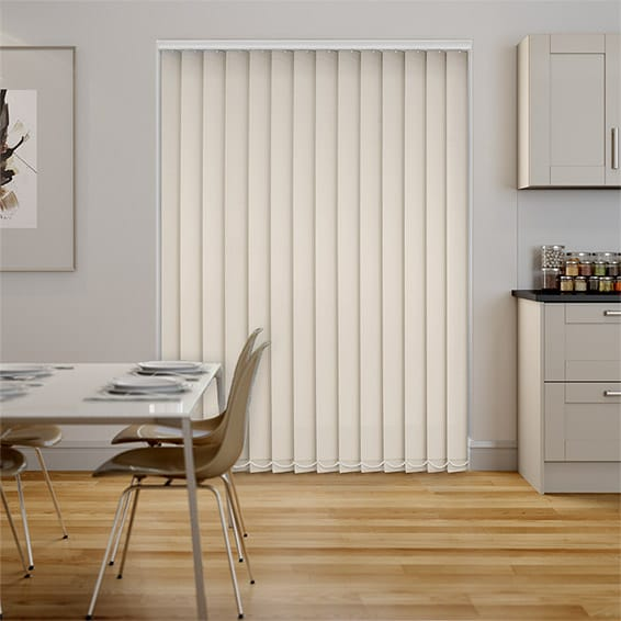 Serenity Cream Blockout Vertical Blind - 127mm Slat