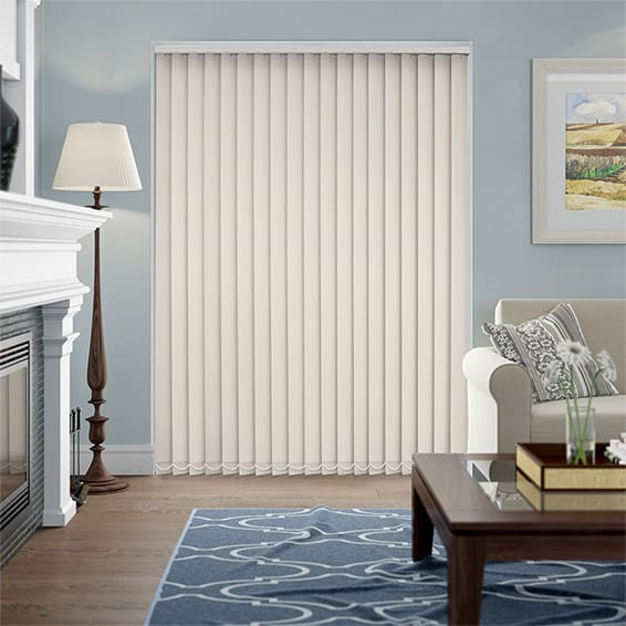 Serenity Cream Blockout Vertical Blind - 89mm Slat