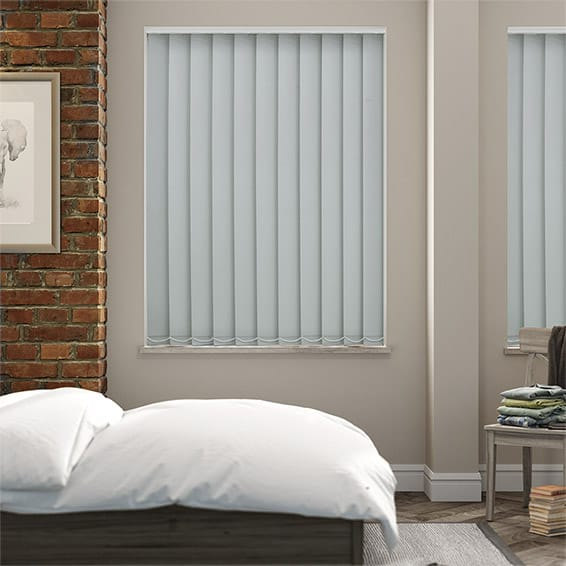 Serenity Duck Egg Blockout Vertical Blind - 127mm Slat