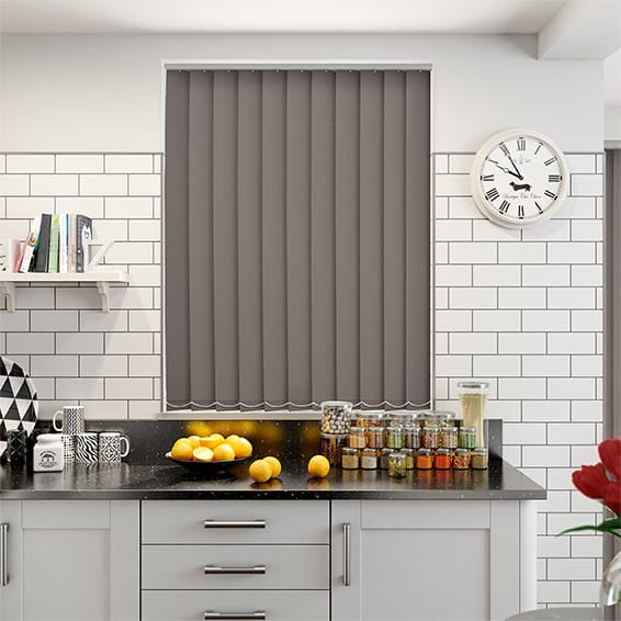 Serenity Espresso Blockout Vertical Blind - 127mm Slat