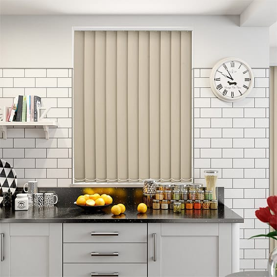 Serenity Latte Blockout Vertical Blind - 127mm Slat