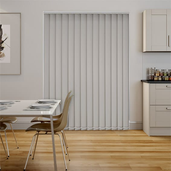Serenity Oyster Blockout Vertical Blind - 127mm Slat