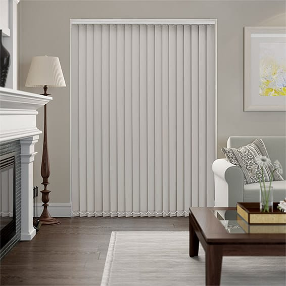 Serenity Oyster Blockout Vertical Blind - 89mm Slat