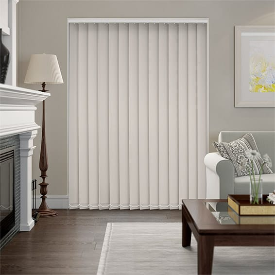 Serenity Powder Blockout Vertical Blind - 127mm Slat