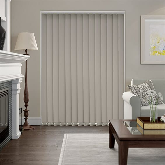 Serenity Pumice Blockout Vertical Blind - 127mm Slat