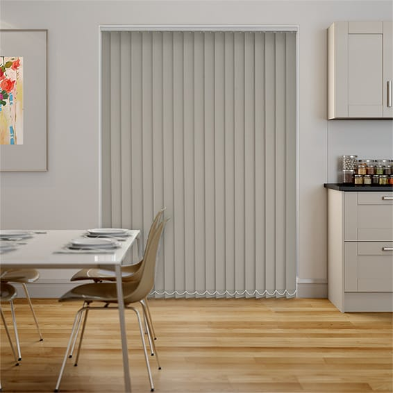 Serenity Pumice Blockout Vertical Blind - 89mm Slat