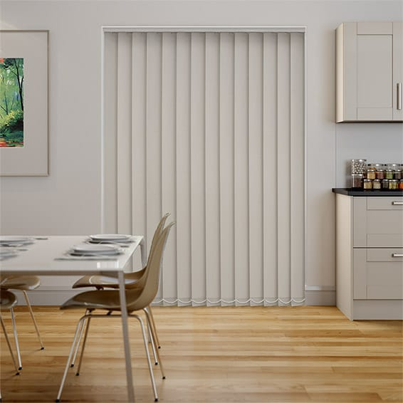 Serenity Putty Blockout Vertical Blind - 127mm Slat