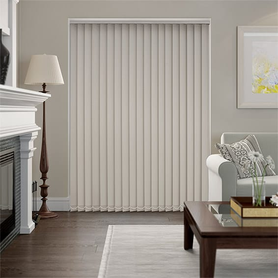Serenity Putty Blockout Vertical Blind - 89mm Slat