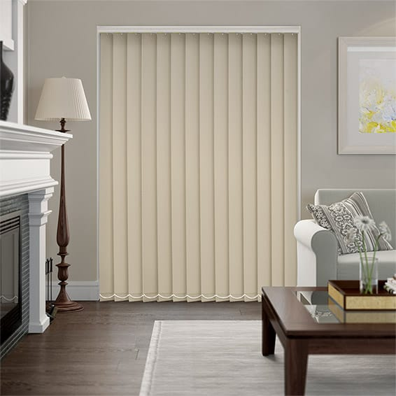 Serenity Sandstone Blockout Vertical Blind - 127mm Slat
