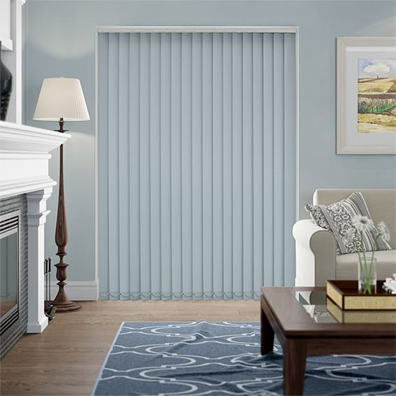 Serenity Smoke Blockout Vertical Blind - 89mm Slat