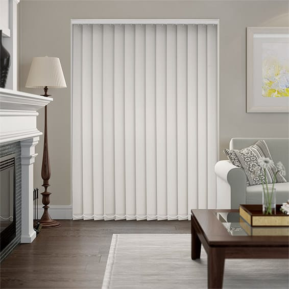 Serenity Stone Blockout Vertical Blind - 127mm Slat