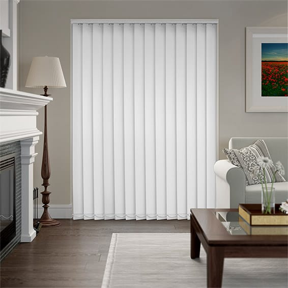 Serenity White Blockout Vertical Blind - 127mm Slat