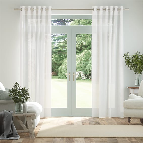 Cirrus Voile Bright White Curtains