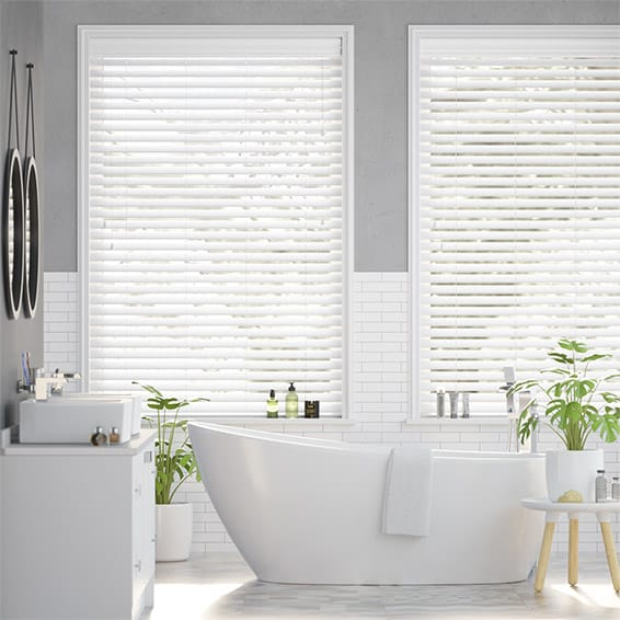 Classical White Timber Style Venetian Blind - 50mm Slat