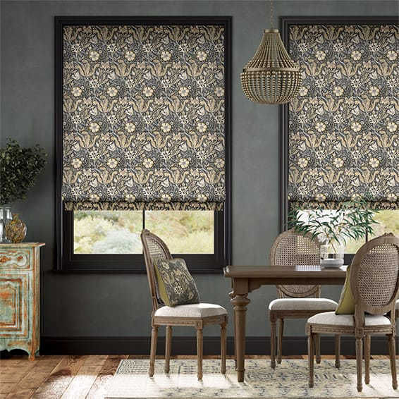 William Morris Compton Noir Roman Blind