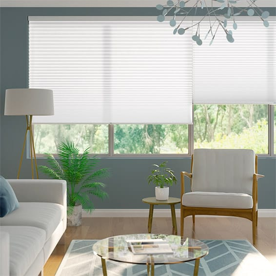 Cordless DuoLight-Max Cotton White Pleated Blind