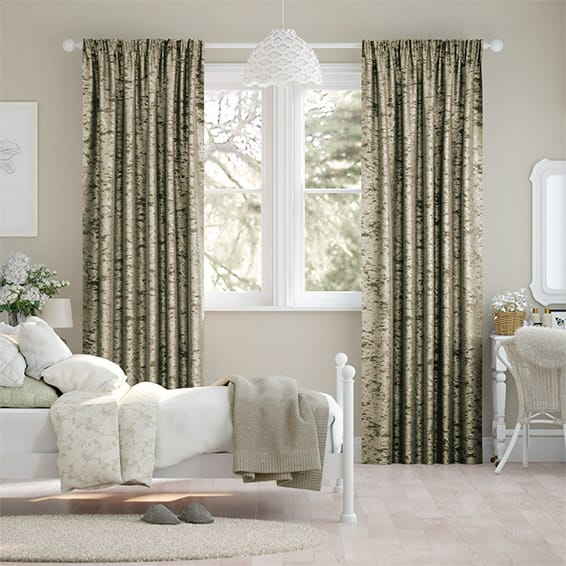 Crushed Velvet Bronze Curtains