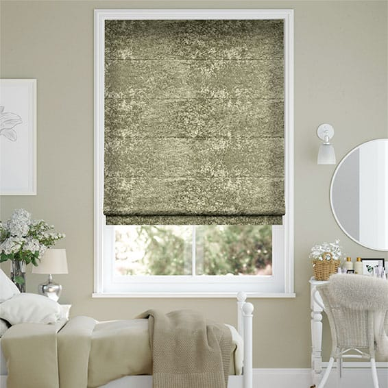 Crushed Velvet Bronze Roman Blind