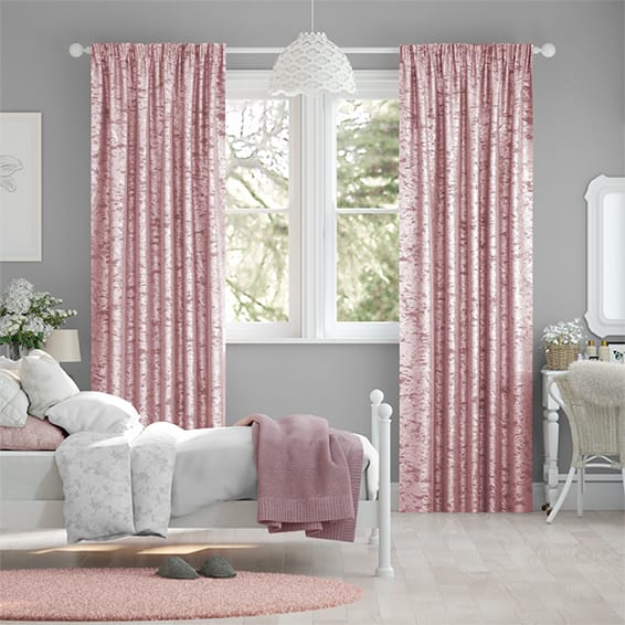 Pink Velvet Curtains Perfect For Bedroom With Blockout Lining