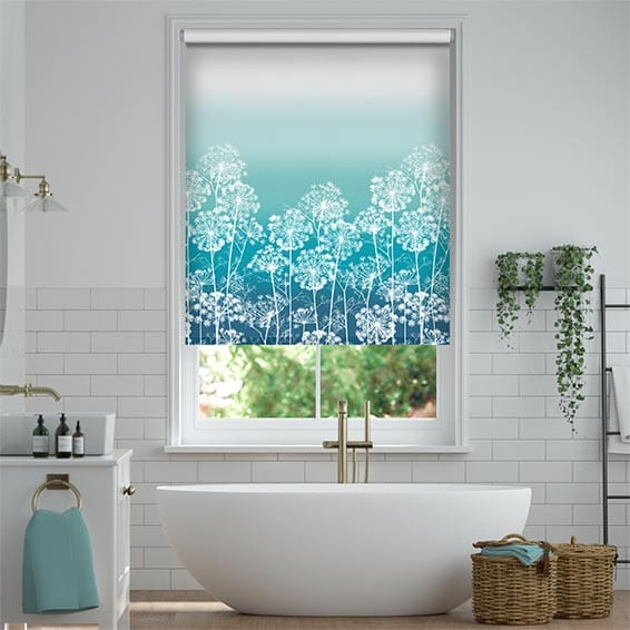 Dill Teal Roller Blind