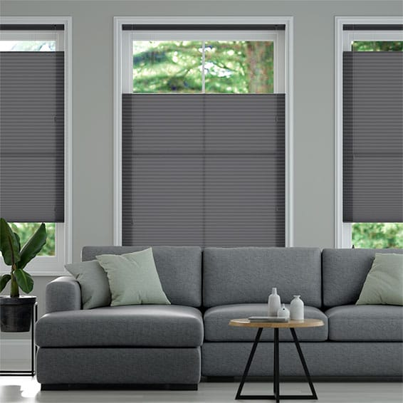 DuoLight Anthracite  Top Down/Bottom Up Pleated Blind