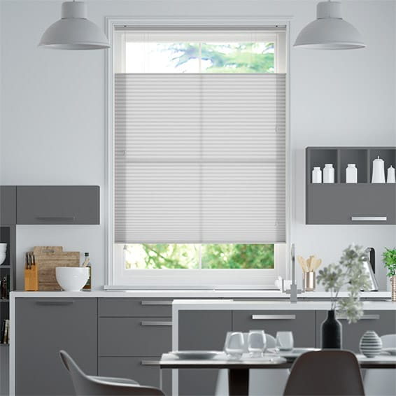 DuoLight Ash Grey  Top Down/Bottom Up Pleated Blind