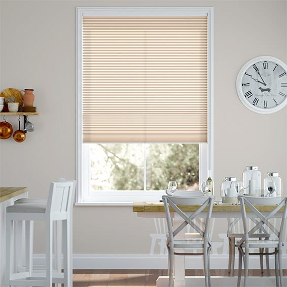 DuoLight Cordless Almond  Pleated Blind
