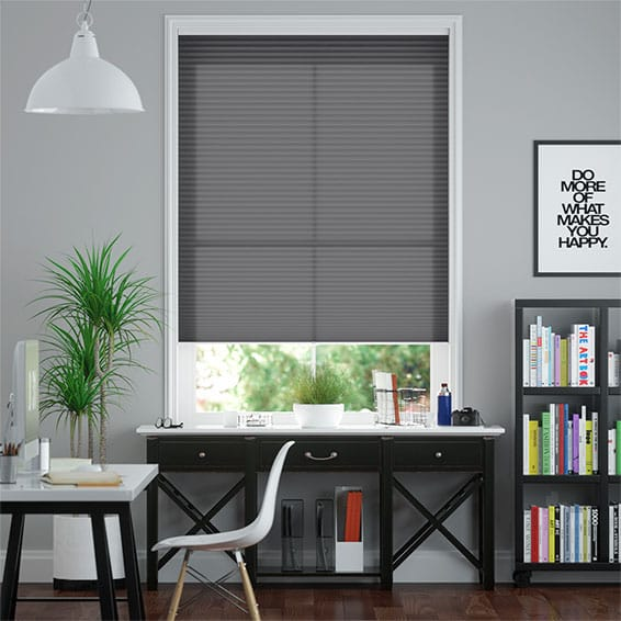 DuoLight Cordless Anthracite  Pleated Blind