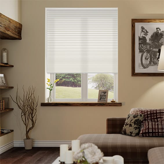 Duolight Cordless Cotton Pleated Blind