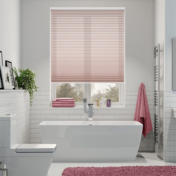 Duolight Cordless Dusky Pink Pleated Blind