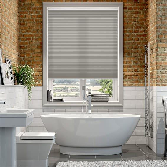 Duolight Cordless Gainsboro Grey Pleated Blind