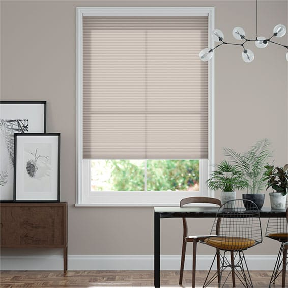 DuoLight Cordless Mushroom  Pleated Blind