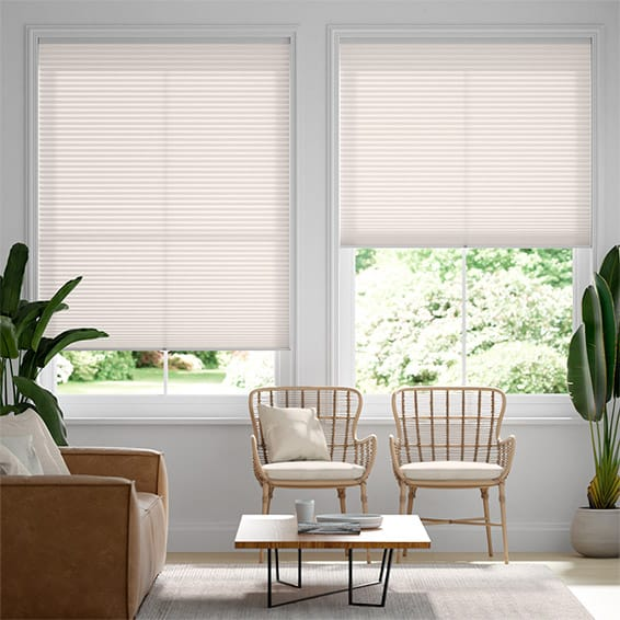 DuoLight Cordless Nude  Pleated Blind
