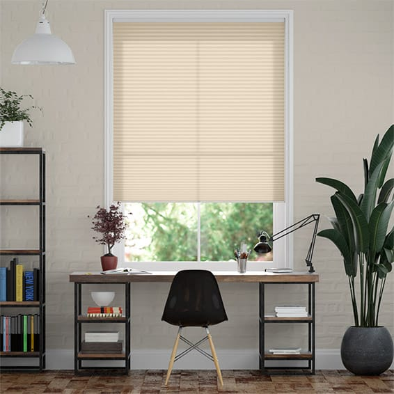 DuoLight Cordless Wheat  Pleated Blind