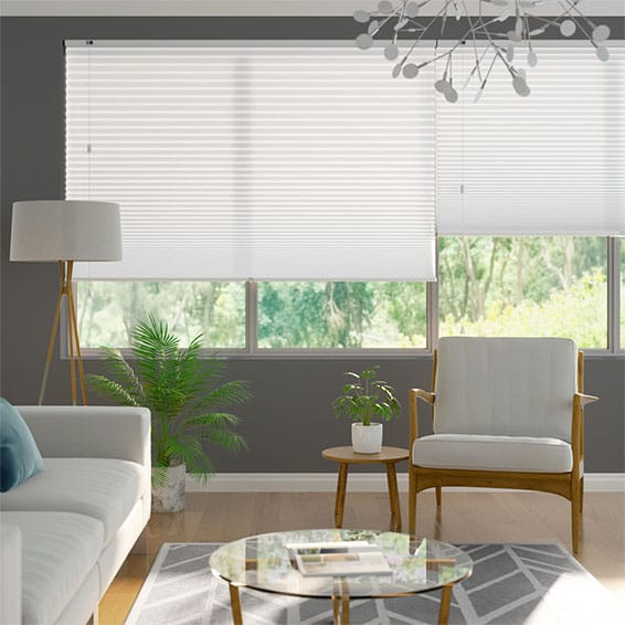 DuoLight-Max Cotton White Pleated Blind