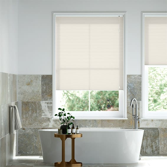 DuoLight Pale Cream Pleated Blind