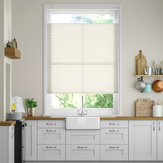 DuoLight Pale Cream Top Down/Bottom Up Pleated Blind