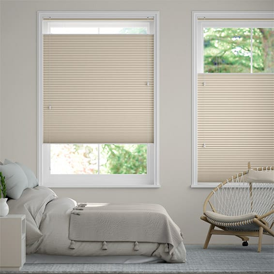 DuoShade Beige Top Down/Bottom Up Pleated Blind