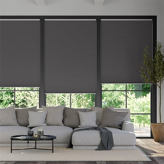 DuoShade Cordless Anthracite  Pleated Blind