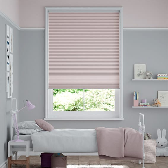 DuoShade Cordless Baby Blush Pleated Blind