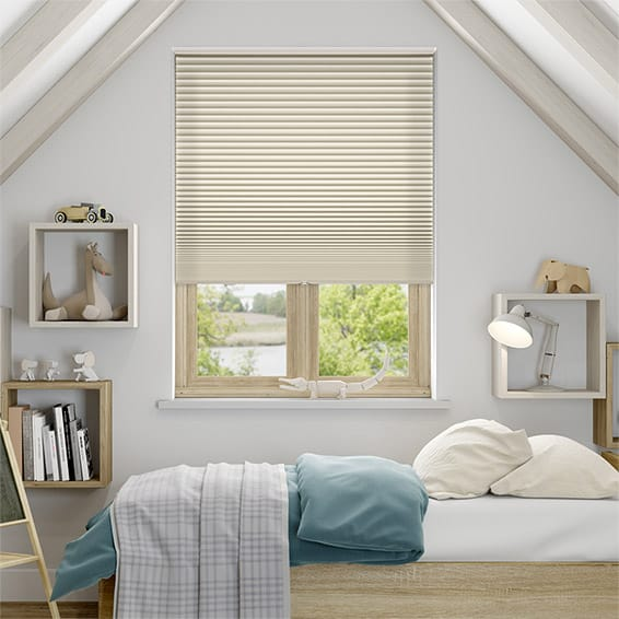DuoShade Cordless Beige Pleated Blind