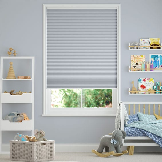 DuoShade Cordless Glacier Blue  Pleated Blind