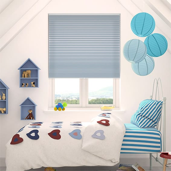 DuoShade Cordless Little Boy Blue Pleated Blind