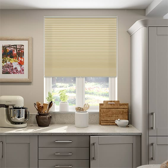 DuoShade Cordless Maize Pleated Blind