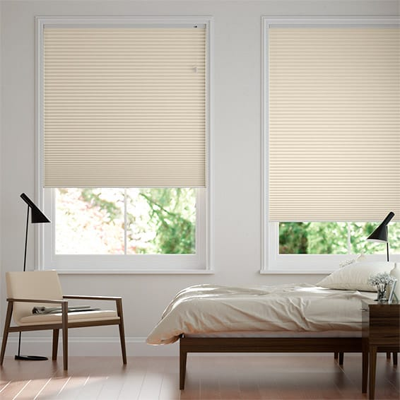 DuoShade Cornsilk  Pleated Blind