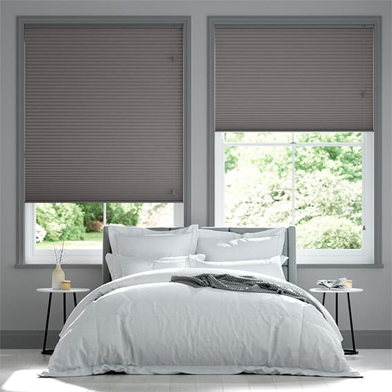 DuoShade Dark Grey Pleated Blind