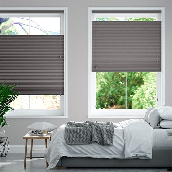 DuoShade Dark Grey Top Down/Bottom Up Pleated Blind