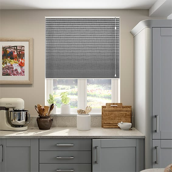 DuoShade Grey Weave Pleated Blind