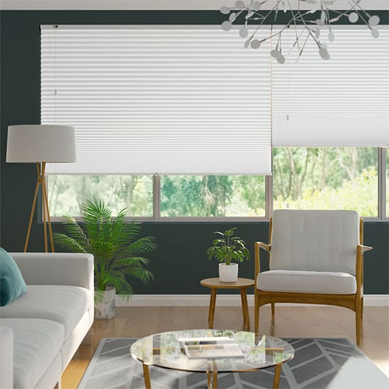 DuoShade-Max Cotton White Pleated Blind