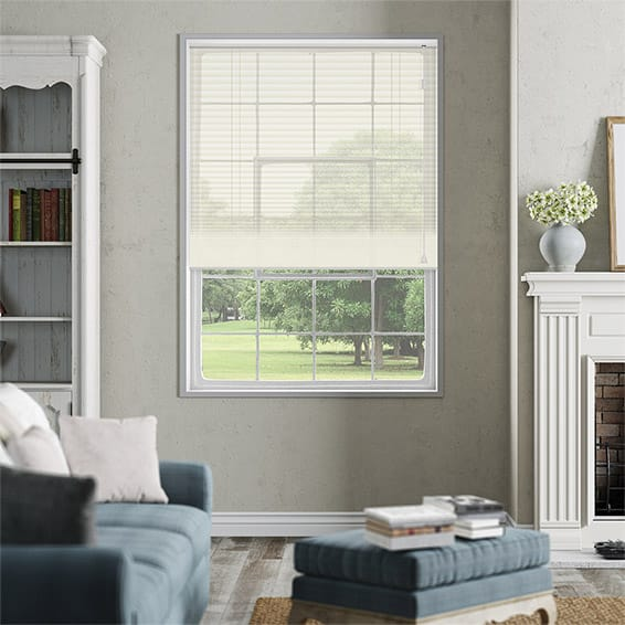 DuoVoile Cream Pleated Blind